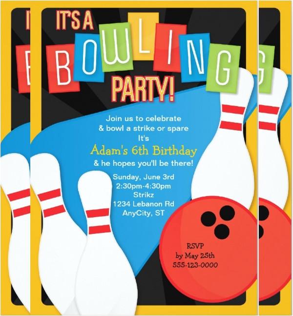 bowling invitation