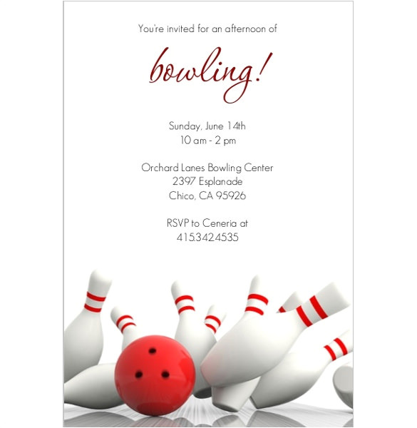 Bowling Party Invitation Template Word 24 Outstanding Bowling Invitation Templates Designs