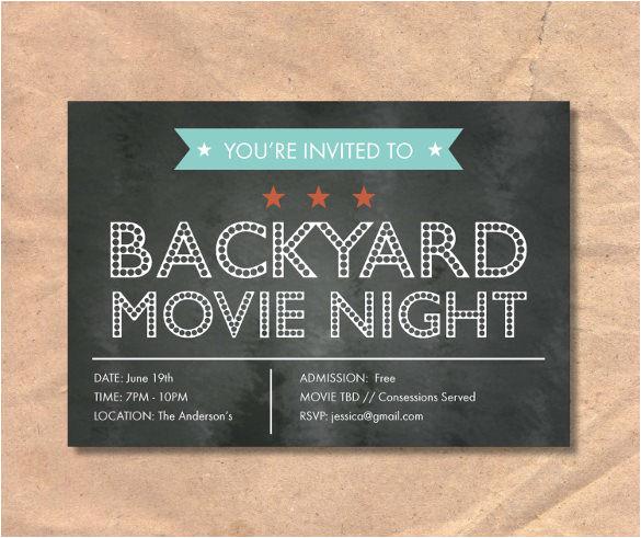 movie night invitation templates du16 hta