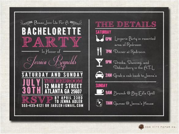 free chalkboard printable invitation template