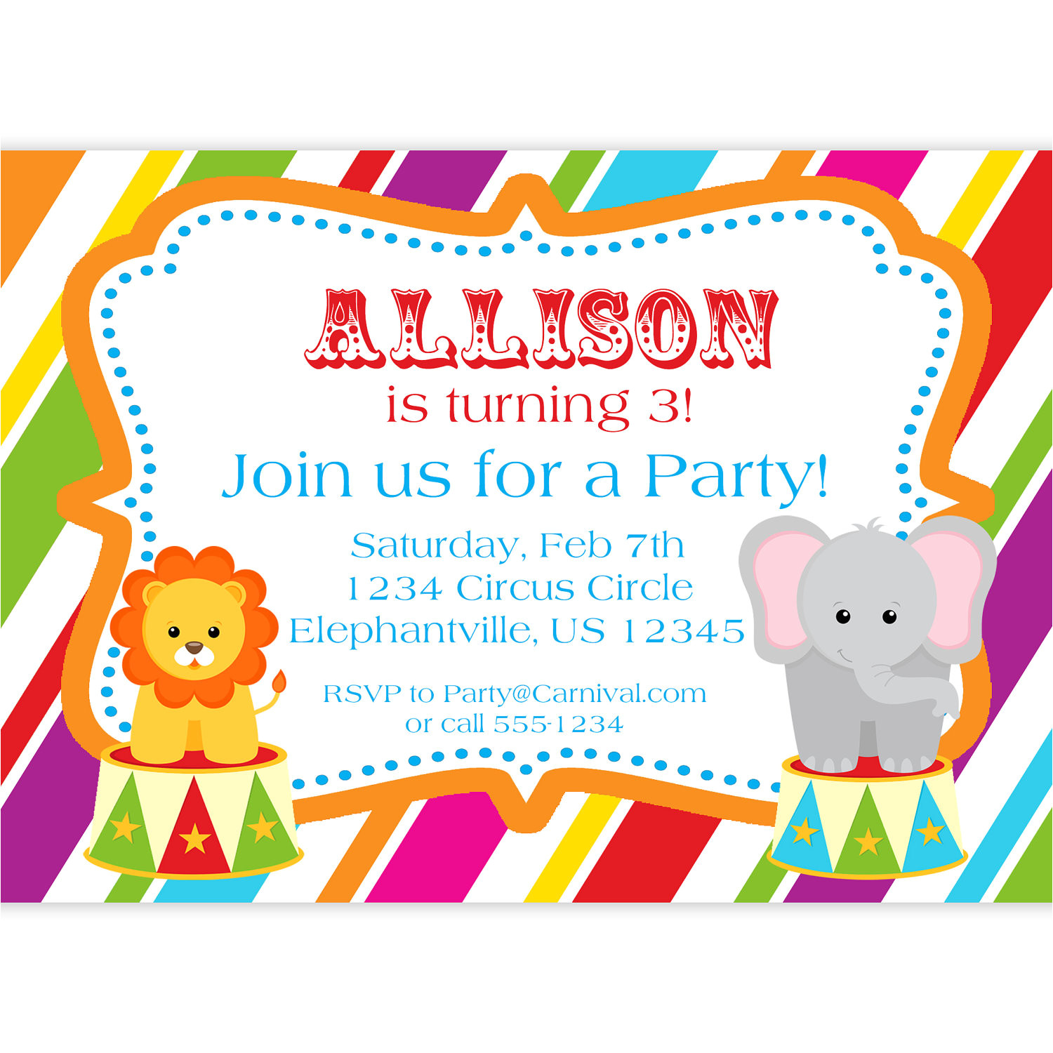 art birthday party invitations for your kids