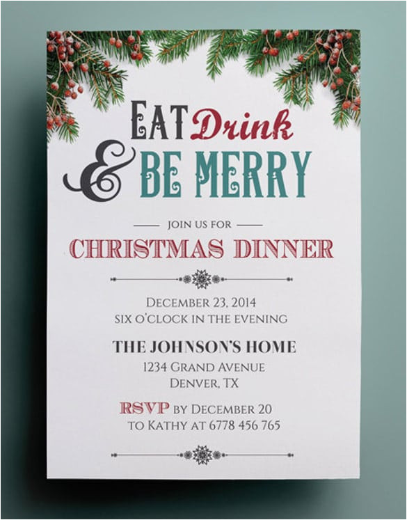 christmas invitation free templates download