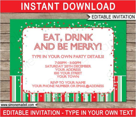 christmas invitation template christmas