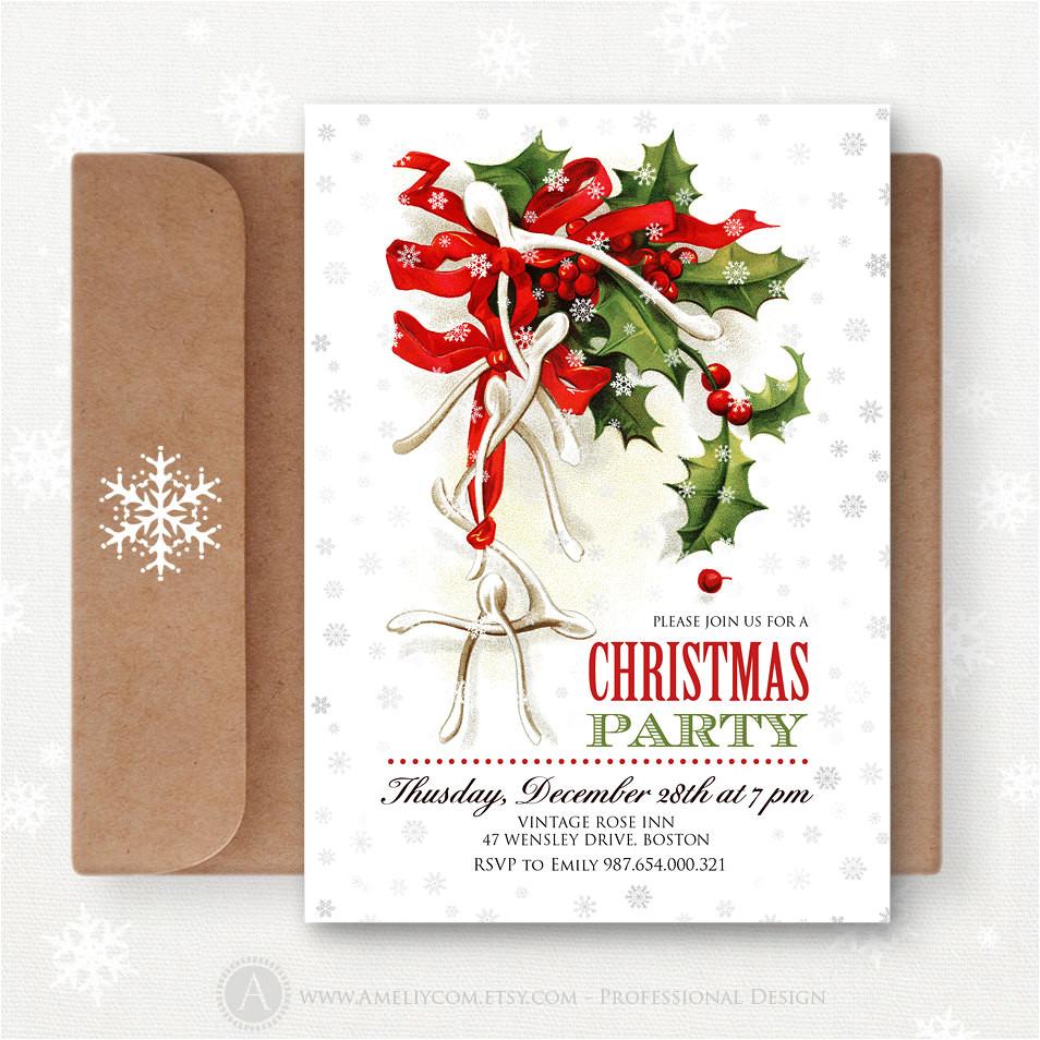 christmas printable invites editable