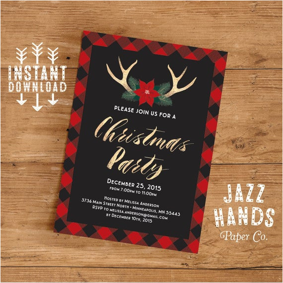 christmas party invitation template diy