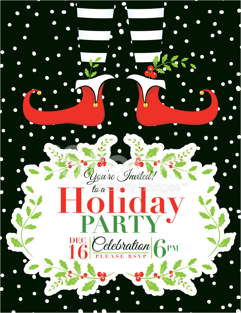 elf christmas party invitation template 1346139