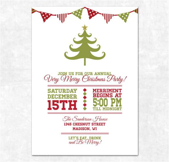 printable christmas invitation holiday