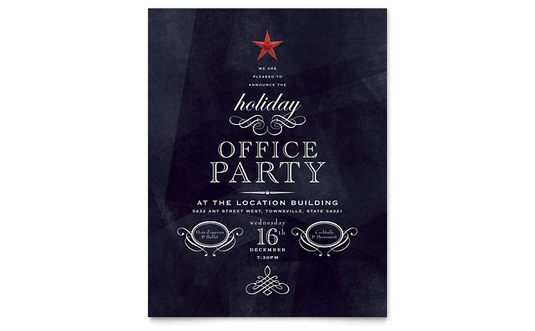 office holiday party flyer templates xx1021501d