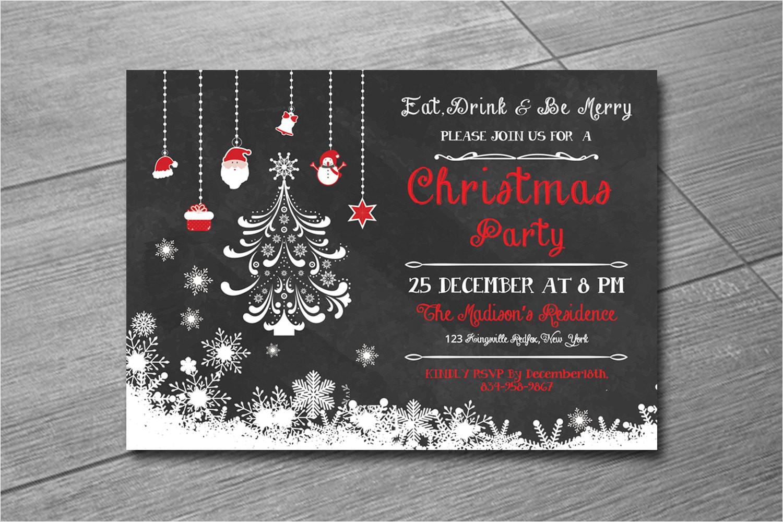 christmas invitation template holiday