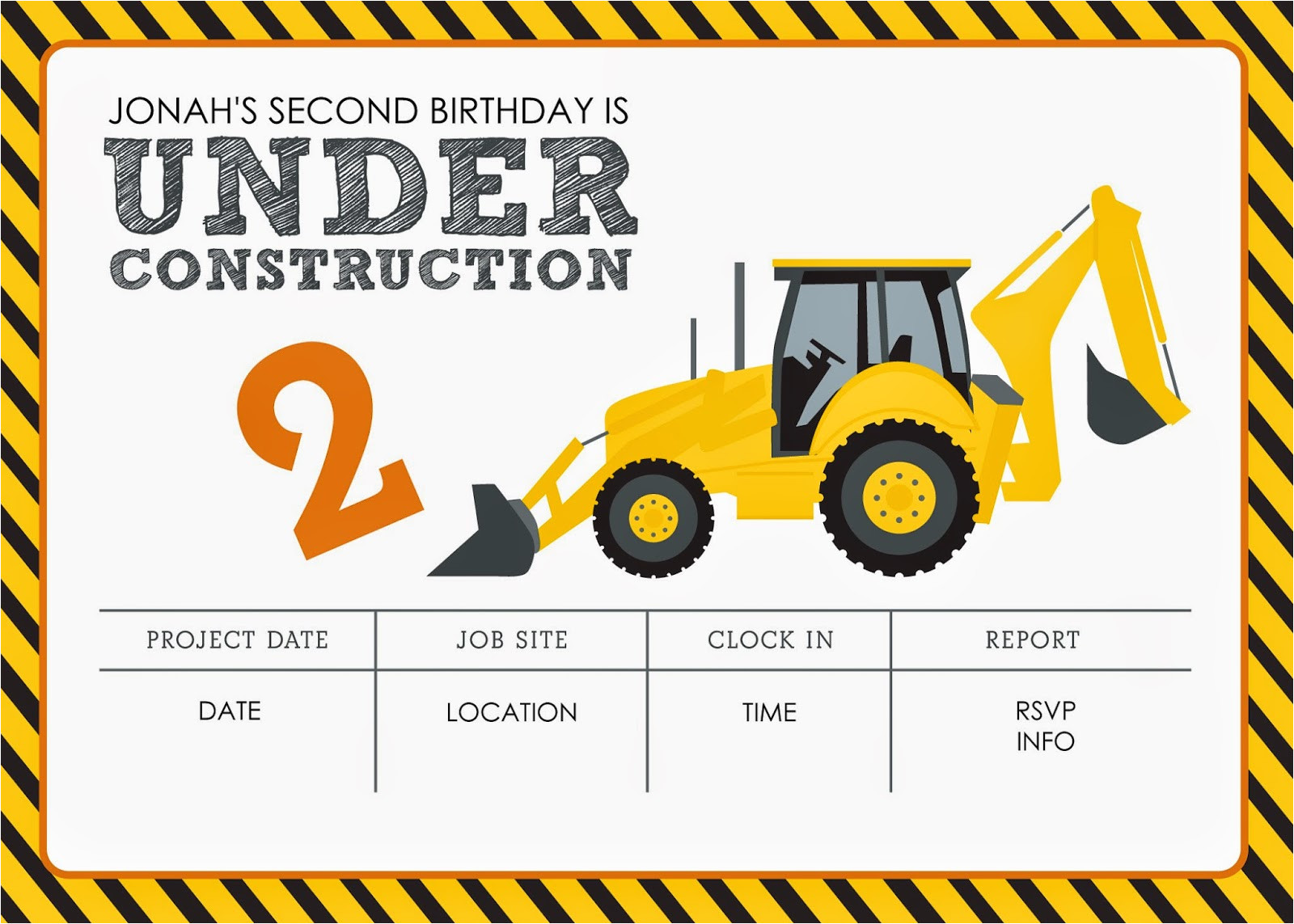 construction themed birthday party free