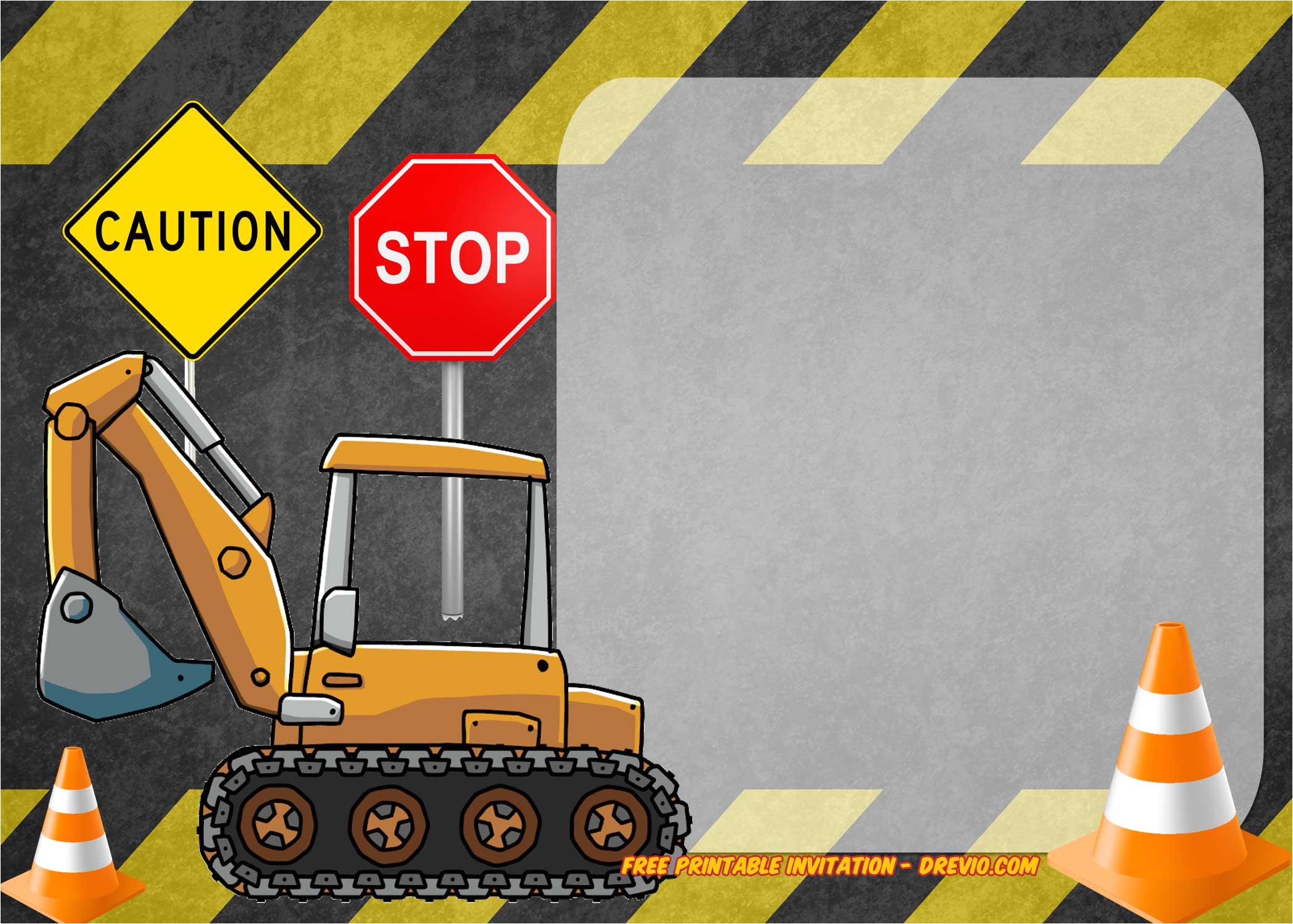 free construction invitation templates