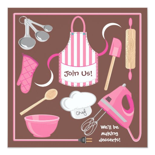 baking or cooking party invitation card 161808674621564590