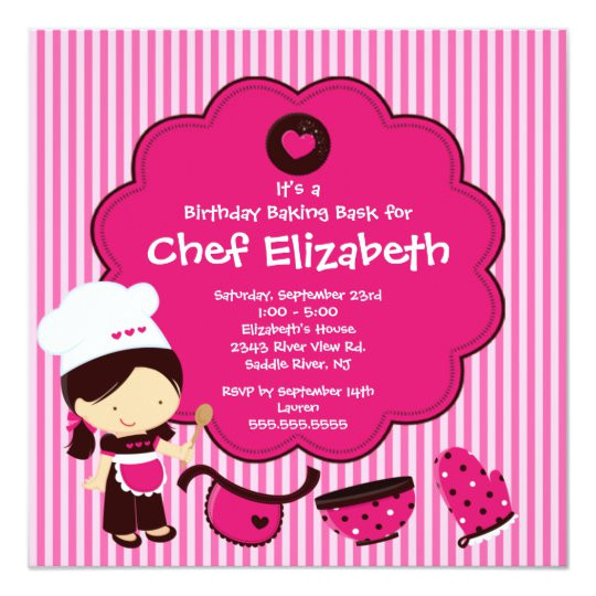 cooking baking birthday party invitation 161660581940624880