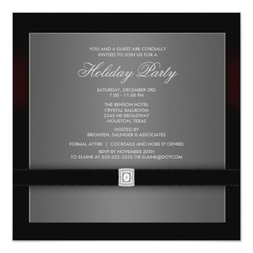 corporate black tie party invitation template 161397456194019148