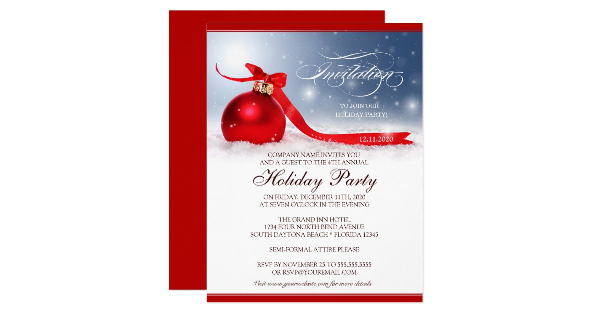 corporate holiday party invitation template 161833441414186129