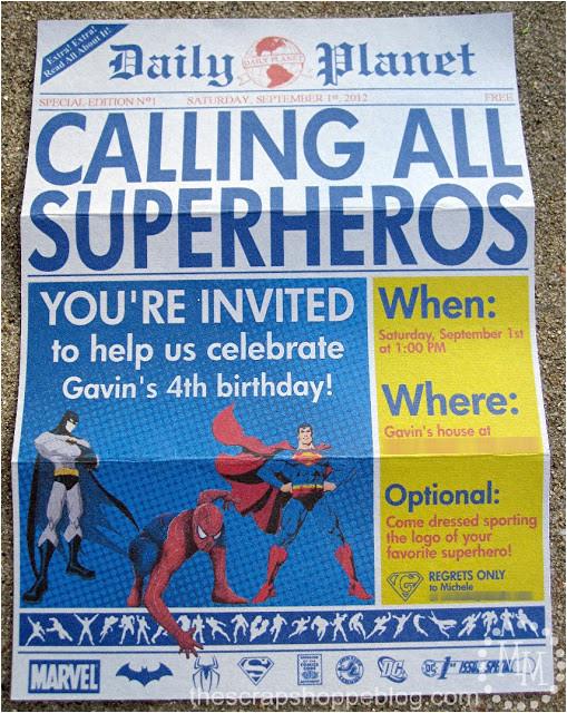 newspaper birthday invitation template