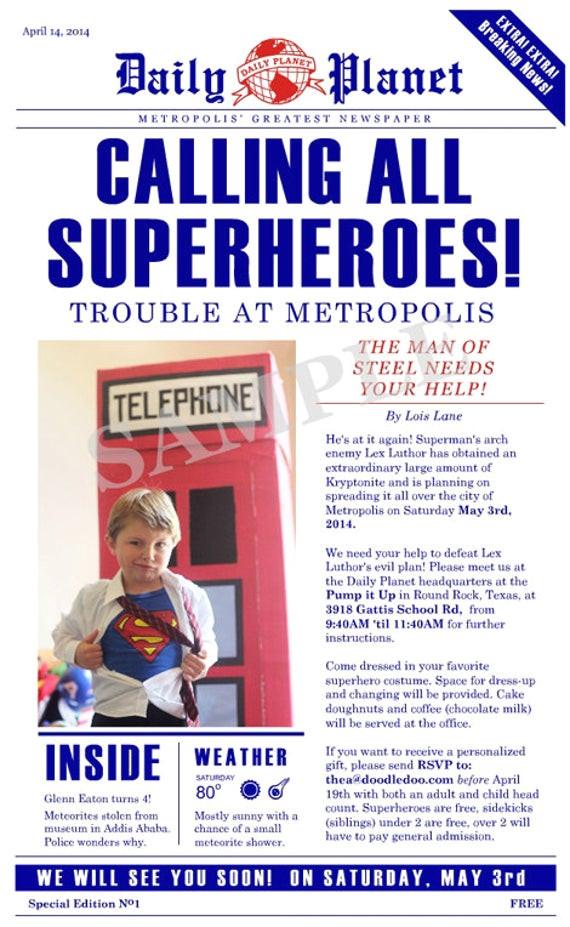 superman daily planet birthday