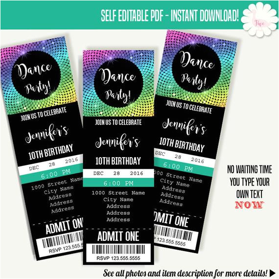 dancing party invitation dance party