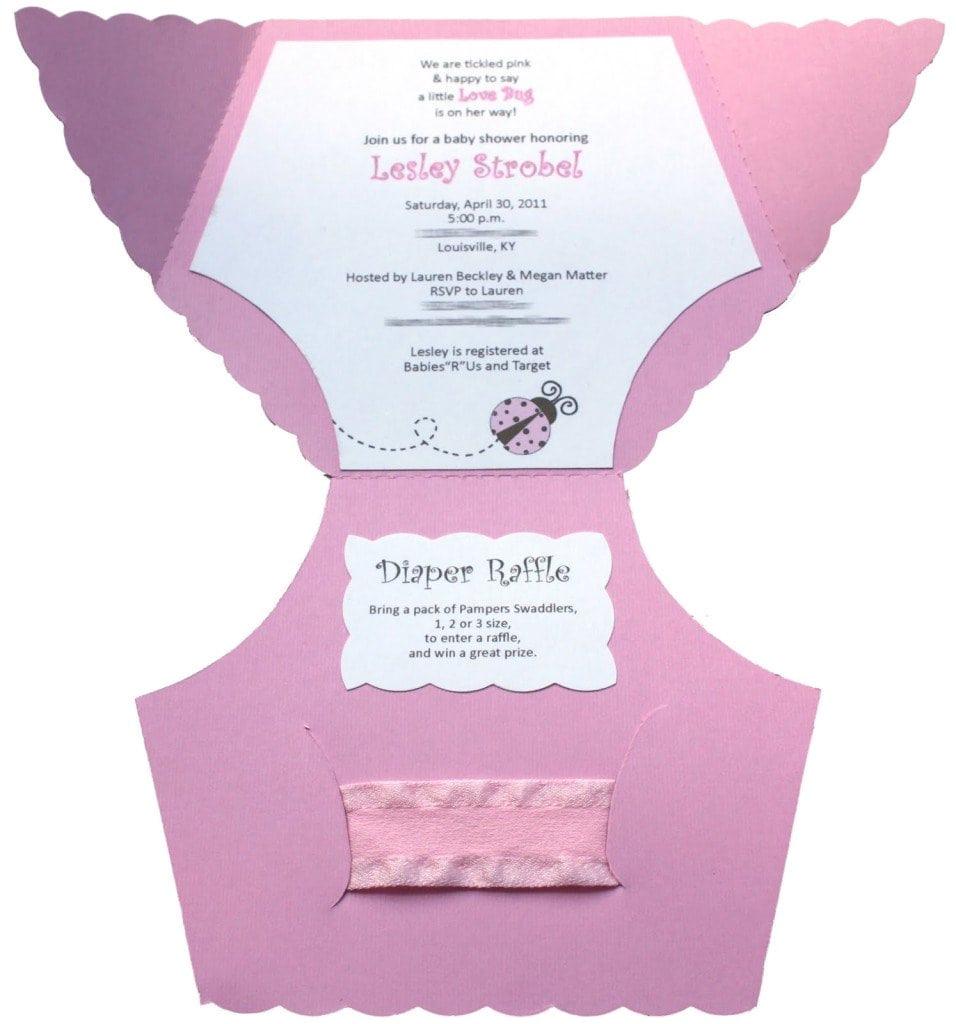 diaper invitation template