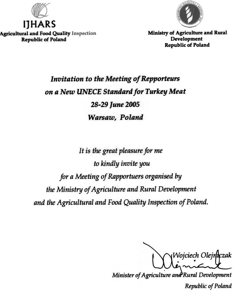 invitation letter to dinner