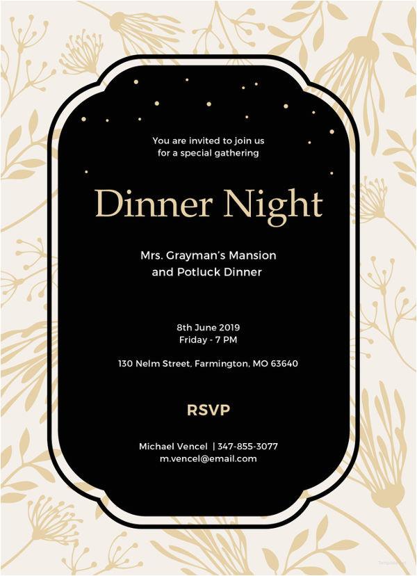 team dinner invitation