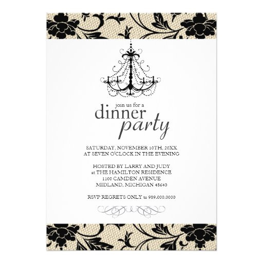 fancy dinner party invitations 161354683827970298