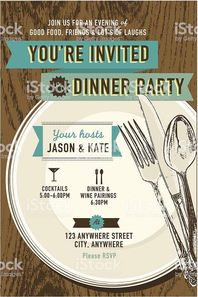 vertical elegant dinner party invitation design template gm483533775 24392759