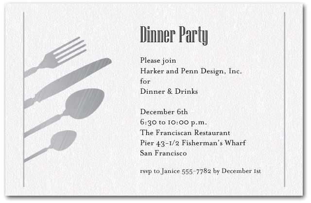 dinner invitation wording for colleagues