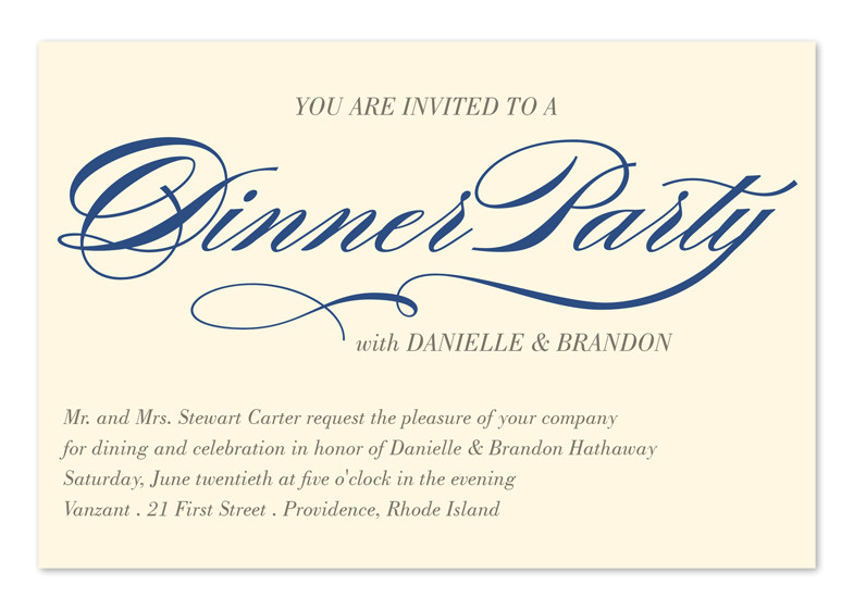 invited to dinner