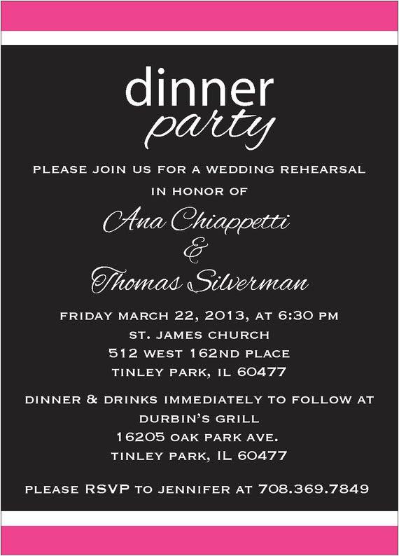 rehearsal dinner party invite custom
