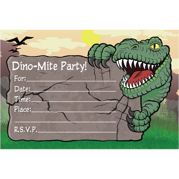 birthday invitation templates dinosaurs