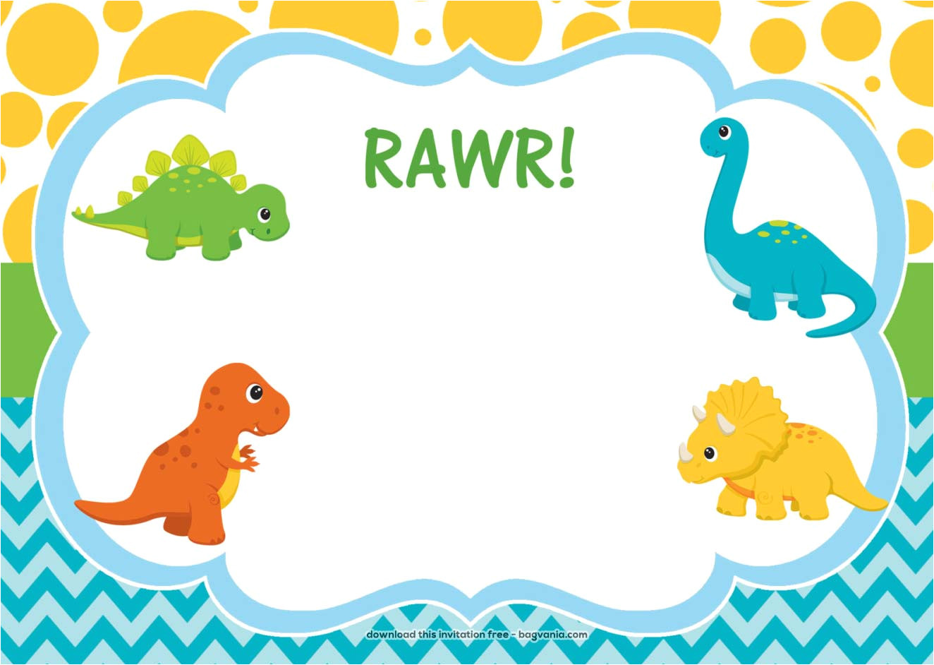 free dinosaur birthday invitations
