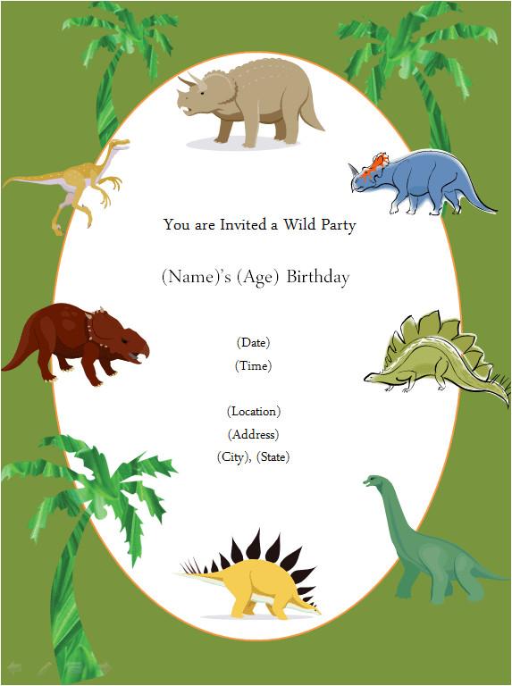 Dinosaur Party Invitation Template Free Free Printable Invite Dinosaur Party In 2019 Dinosaur