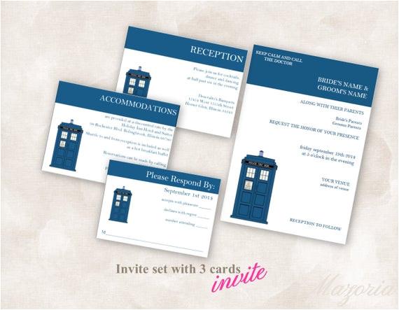 diy wedding invite set template doctor