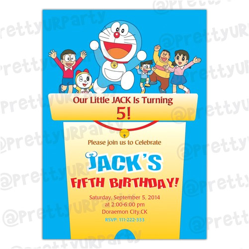 5 years old birthday invitations