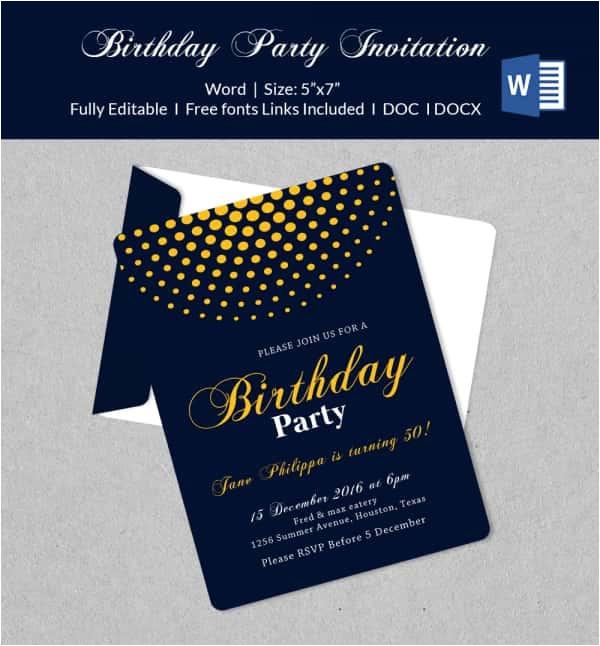 microsoft invitation template
