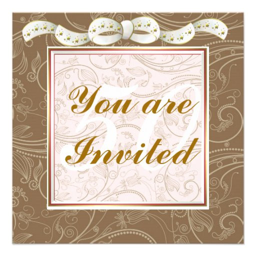 elegant happy 50th birthday template invitations 161896569100063383