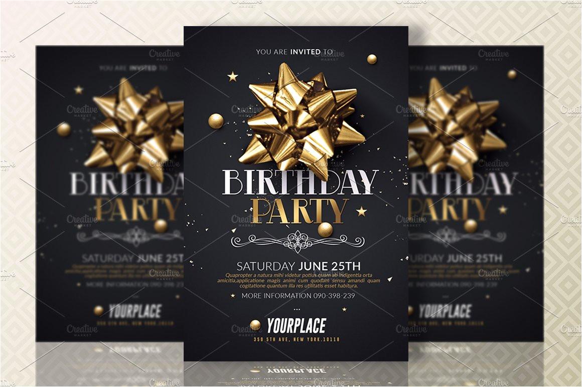 700364 birthday party invitation template