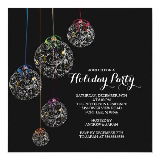elegant christmas ball holiday party invitation 161318813571408762