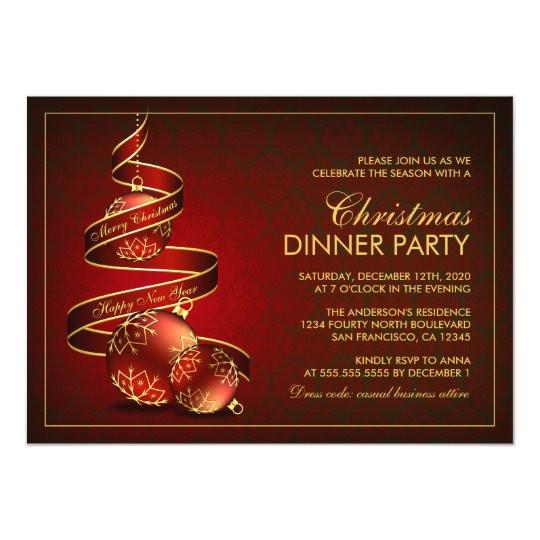 elegant christmas dinner party invitation template 256621482932131864