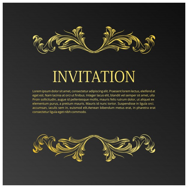 elegant wedding invitation template with space text 1240527