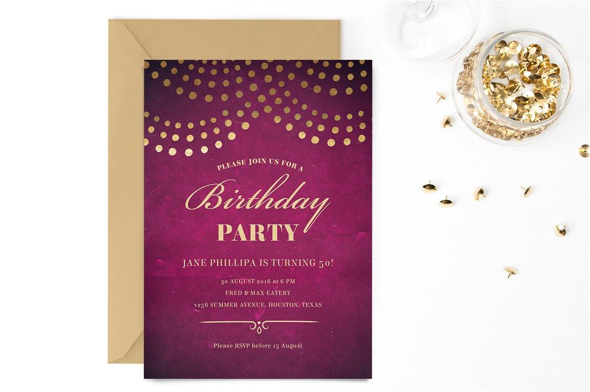 530449 elegant 50th birthday party invite
