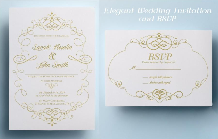 elegant wedding invitation template classic wedding invitation design printable wedding invitation instant download premade gold wedding