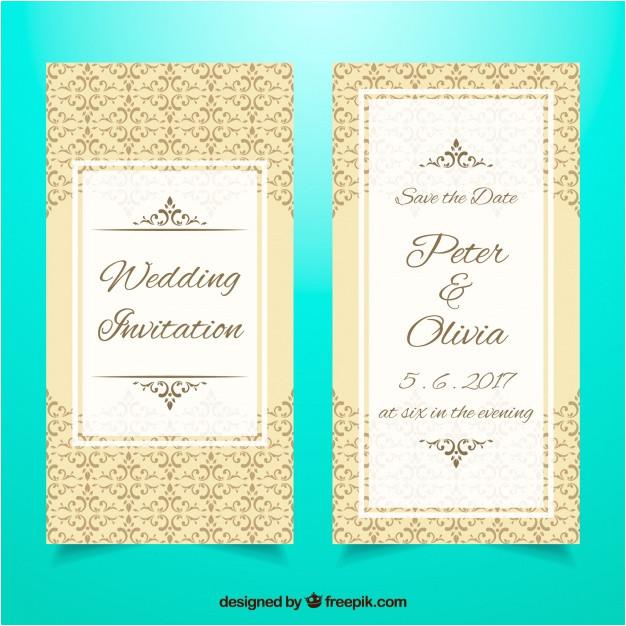 elegant wedding invitation template 1127827