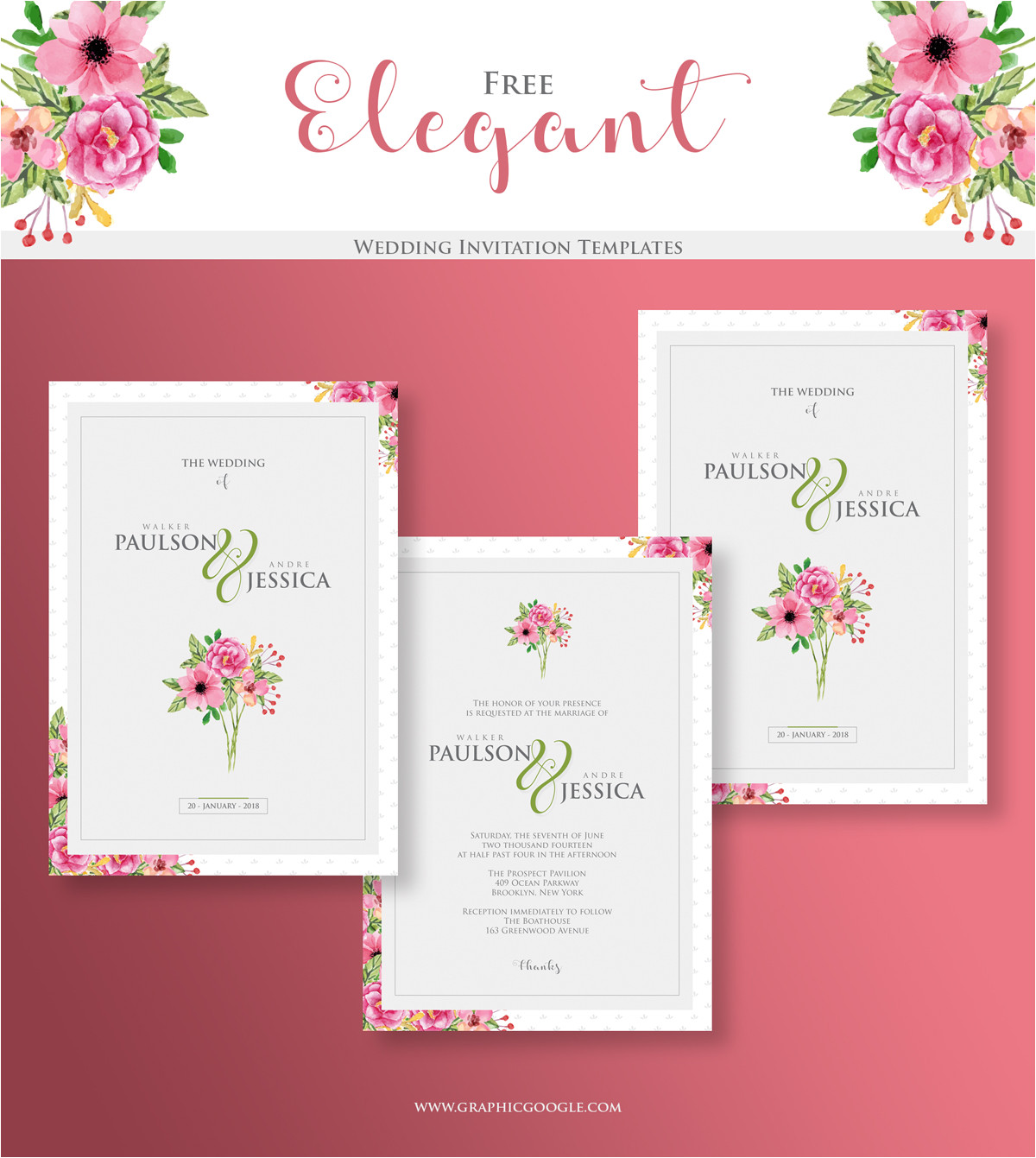 free elegant wedding invitation templates