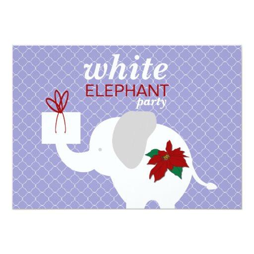 white elephant party invitation 161507289165071766