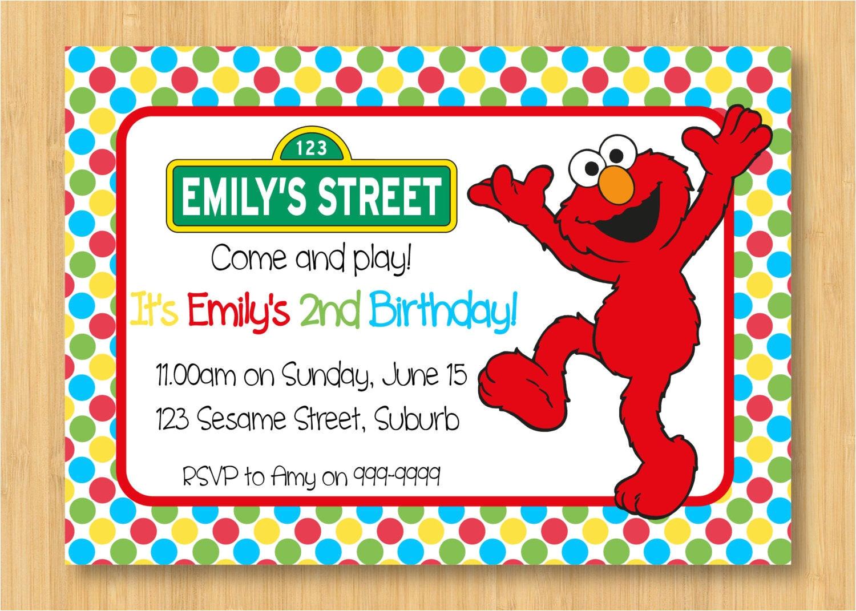elmo birthday invitation templates free