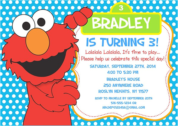 free printable elmo birthday invitations