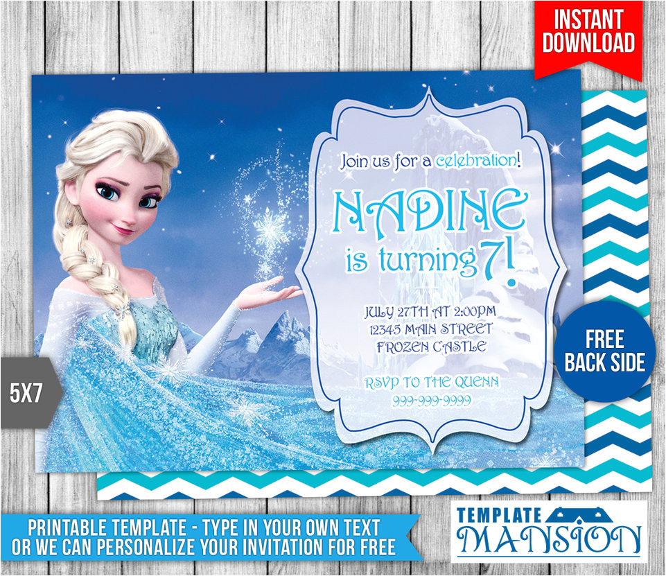 disney frozen elsa birthday invitation 554098790