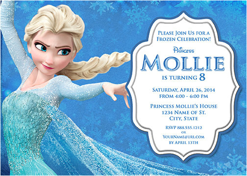 elsa frozen birthday party invitation ideas